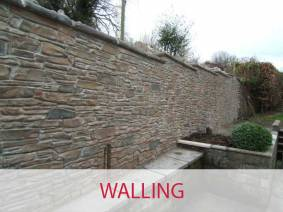 Walling, walls built by Designer Driveways Scotland using Wallcrete